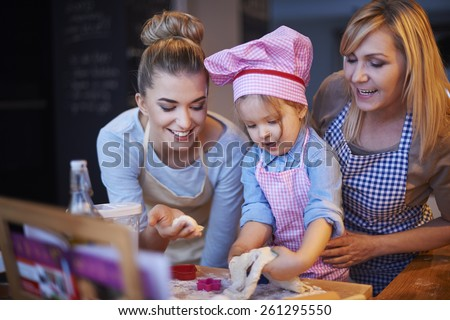 Baking together is tradition in our home - stock photo