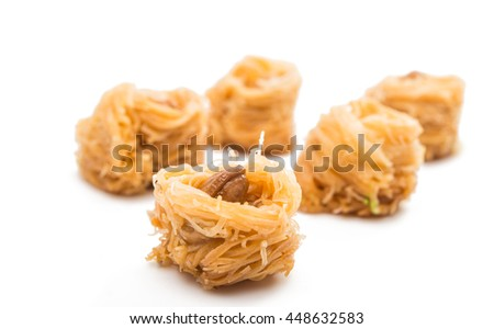 baklava on a white background