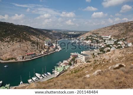 Balaklava bay. Crimea. Russia. - stock photo