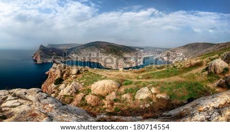 Balaklava, Crimea, Ukraine. Panorama - stock photo