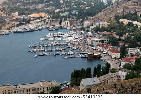 Balaklava Harbour, Crimea - stock photo