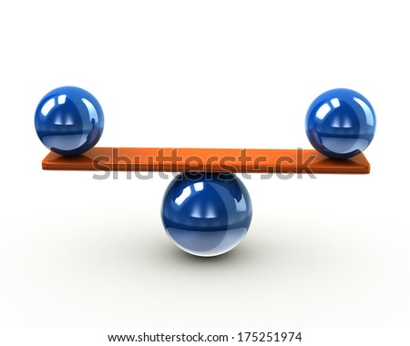 Balance and harmony concept on white background - stock photo