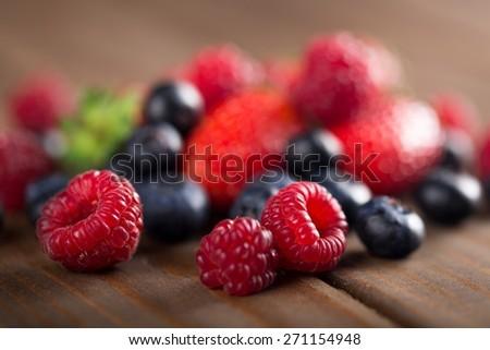 Balance, berries, blackberries. - stock photo