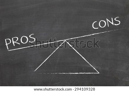 balance between pros and cons - stock photo