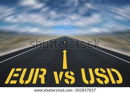balance between the two currencies EUR and USD