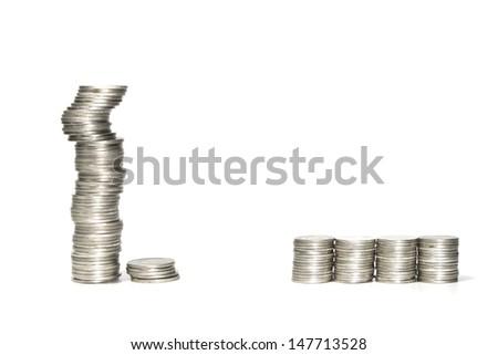 Balance coin - stock photo