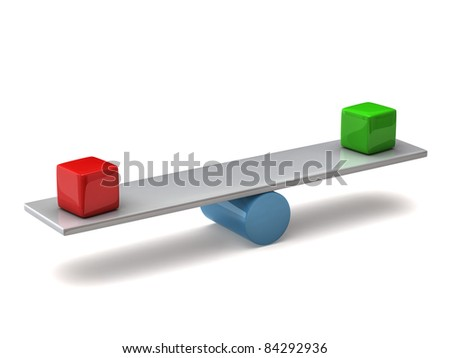 Balance concept on white background