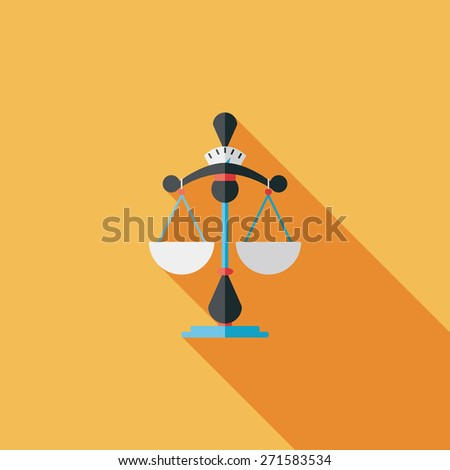 Balance flat icon with long shadow - stock photo