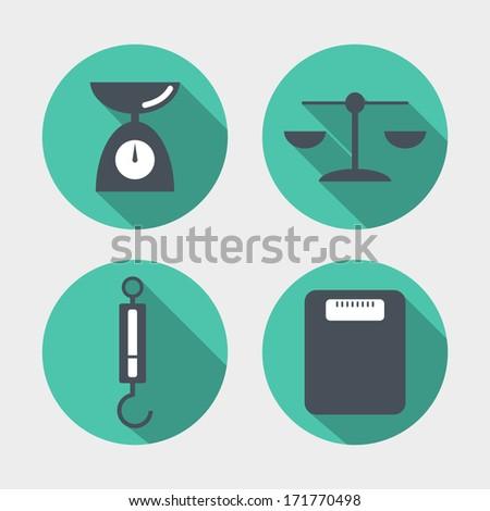 Balance icons - stock photo