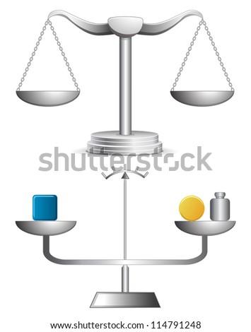 Balance illustrations - stock photo