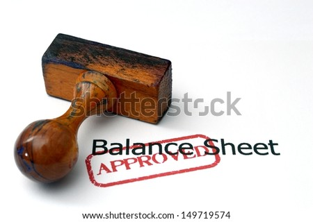 Balance sheet - approved - stock photo