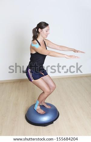 balance training - stock photo