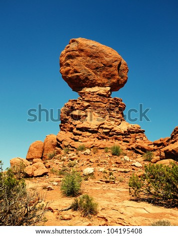 Balanced rock - stock photo