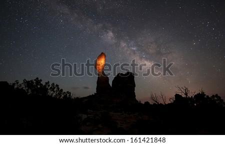 Balanced Rock -Arches National Park - stock photo