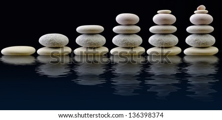Balanced Stone Pile - stock photo
