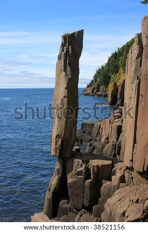 Balancing rock Bay of Fundy