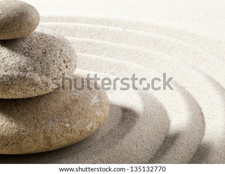 balancing stones for pure wellbeing - stock photo