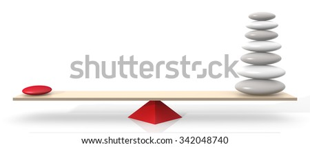 Balancing Stones. Isolated on white background. 3D Rendering - stock photo