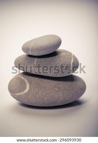 balancing stones, zen stones - stock photo