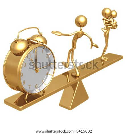 Balancing Time And Family - stock photo
