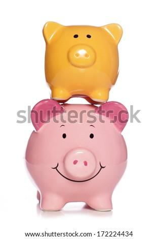 balancing your finances studio cutout - stock photo
