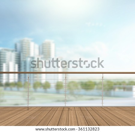 Balcony And Terrace Of The Blur Exterior Background