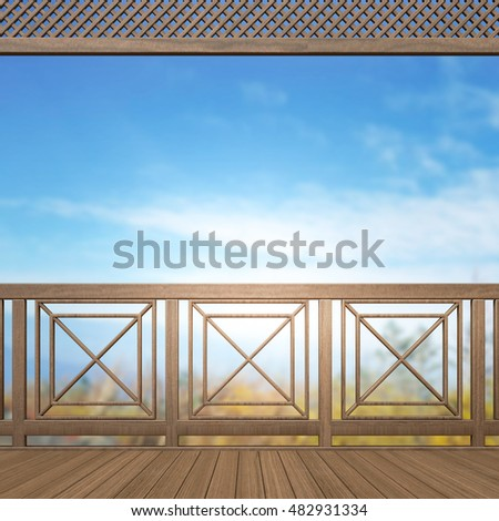 Balcony And Terrace Of The Blur Nature Background