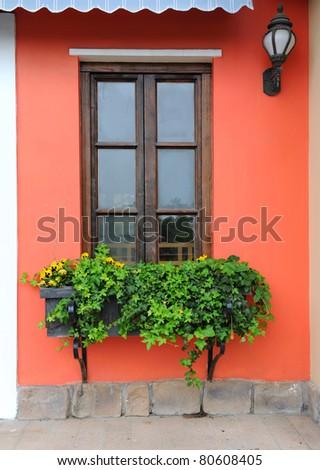 Balcony full of flowers. - stock photo