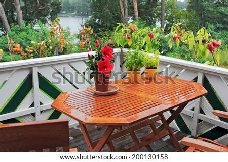 Balcony Greenery - stock photo