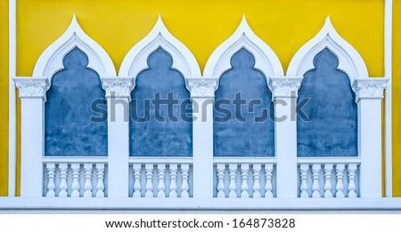 Balcony of a building Italy style - stock photo