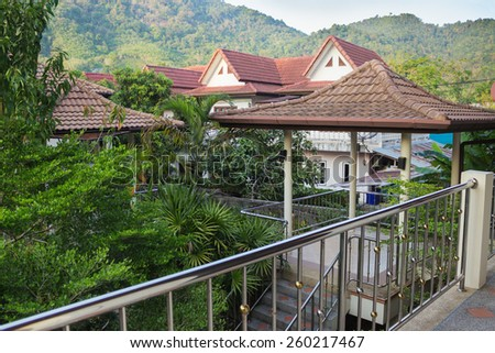 Jungle house stock images royalty free images vectors for Balcony jungle