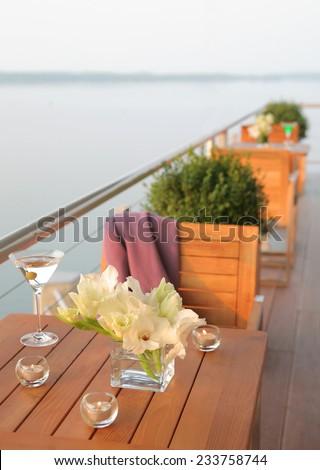 balcony of the house  - stock photo