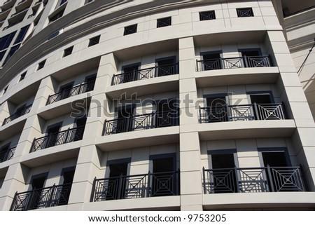 Balcony office building - stock photo
