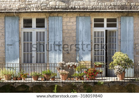 Balcony on a residential home in France