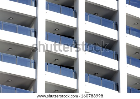 Balcony on highrise apartment building