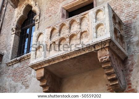 Balcony on the Juliet's house in Verona - stock photo