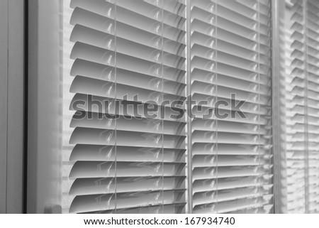 Balcony windows with shutters - stock photo