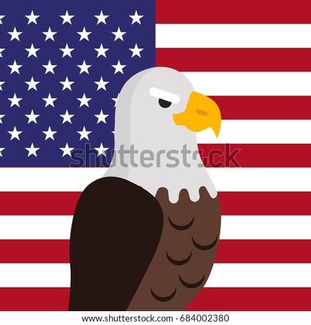 Bald Eagle Usa National Bird Symbol Stock Illustration 684002380