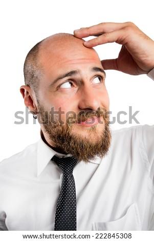 Balding and hair loss - stock photo