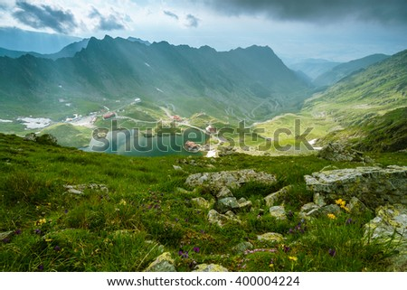 Balea Lake in Fagaras mountains