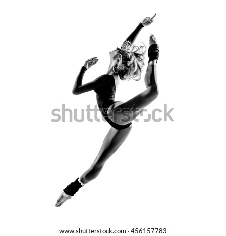 balerina posing in studio