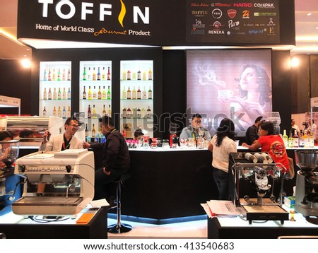 BALI, INDONESIA - SEPTEMBER 3 2015: Inter Food Bali event, an exhibition of food and beverages, including wineries and coffee, Bali, Indonesia.