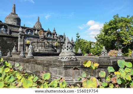 Bali landmark - buddhist temple of Banjar. exotic place of North Bali, Indonesia