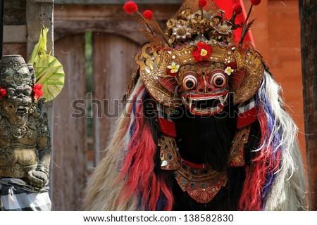 Bali.National Balinese dance.Dance mask. - stock photo