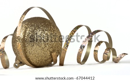 Ball and paper streamer - stock photo