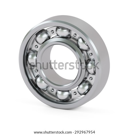 Ball bearing close-up isolated on white