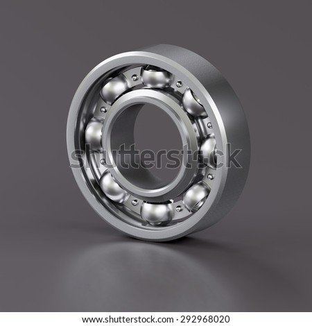 Ball bearing isolated on grey