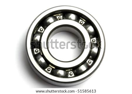 Ball bearing isolated on white background - stock photo