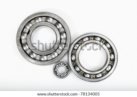 ball-bearings against light-blue, natural colors but no isolation