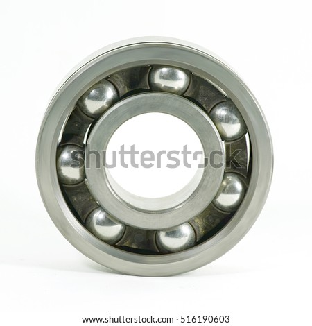 ball bearings   isolated on white background with clipping path.